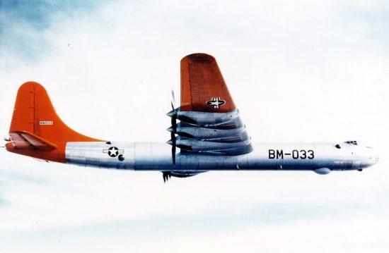 Convair B-36B in flight. (U.S. Air Force photo)