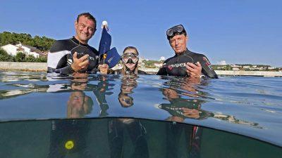 Apnoe Kurs bei Kron Diving, Kampor, Rab, Kroatien