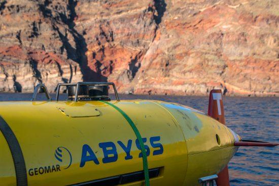 AUV ABYSS während Expedition POS510 in der südlichen Ägäis.