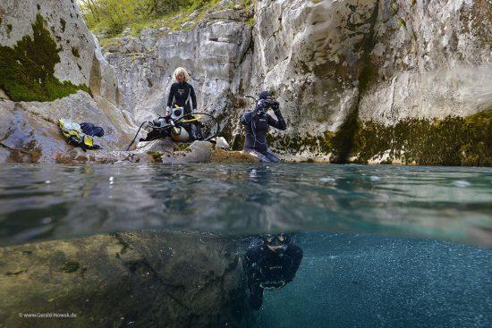 Flussschnorcheln an der Soca