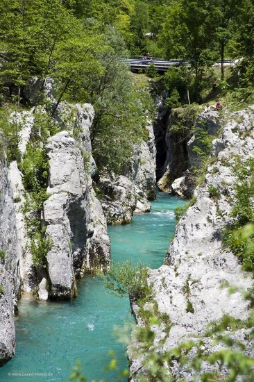 Blick zum Einstieg des 2ten Canyon der Soca