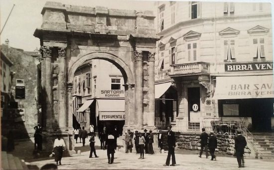 Ferramenta Pauletta in Pula's square, Portarata, where Ludovico Mares made his first mask