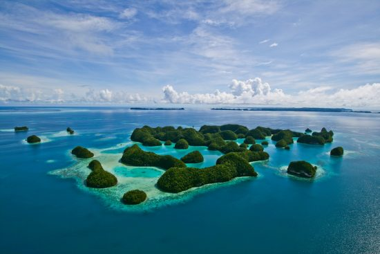 Top view of 70 islands Palau