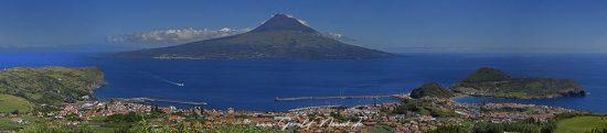 Pico, from the Caldeira in Faial, Vulkan, Pico Azoren