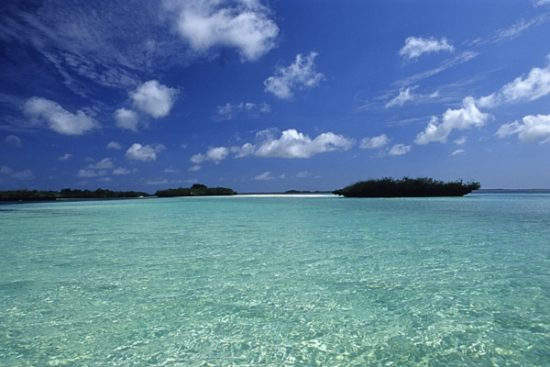 the water inside the lagoon, Aldabra Atoll, Natural World Heritage Site, Seychelles, Indian Ocean